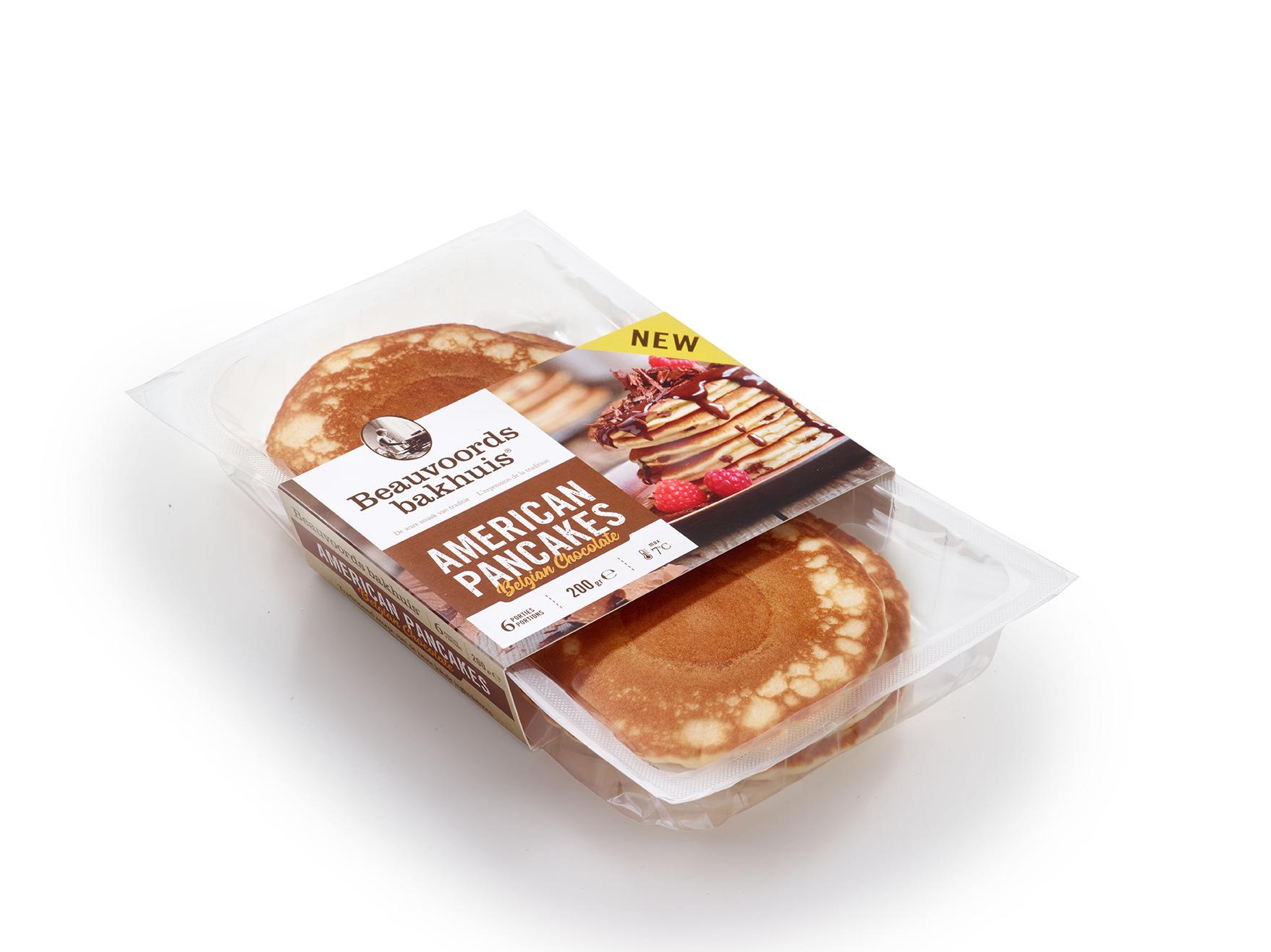 Belgian Chocolate American pancakes packshot - Beauvoords Bakhuis